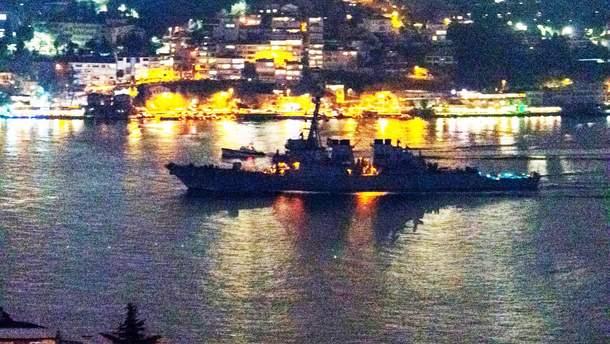 Бойовий корабель США у Чорному морі