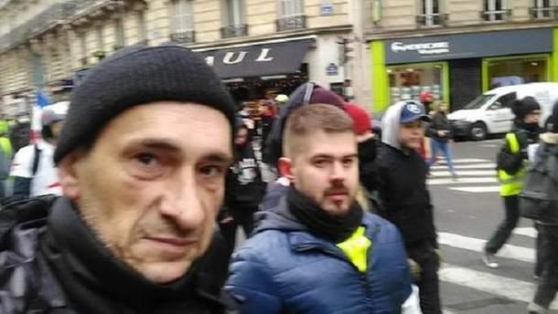 """Боевика который боролся за независимость Донбасса заметили на протесте """"желтых жилетов"""""""