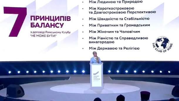 """Тимошенко на Всеукраинском форуме """"Новый курс Украины"""""""