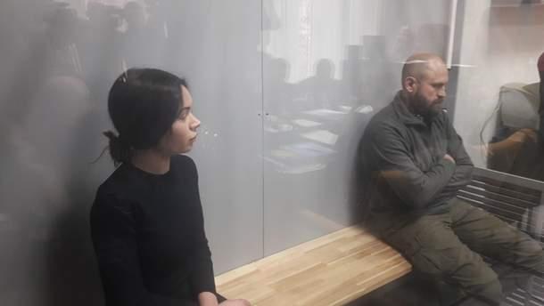 Алена Зайцева и Геннадий Дронов в зале суда