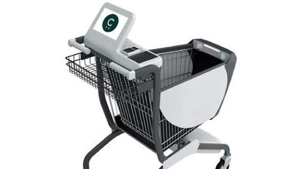Разработали умную тележку для супермаркетов