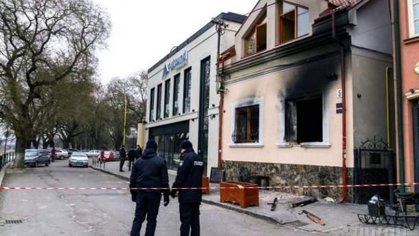 Нападение на здание венгерского культурного общества в Ужгороде