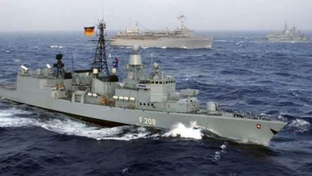 Немецкий военный корабль войдет в Черное море в рамках миссии НАТО