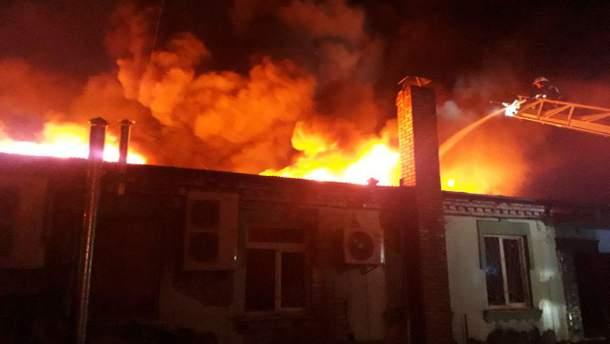 В Ровно горел ресторан