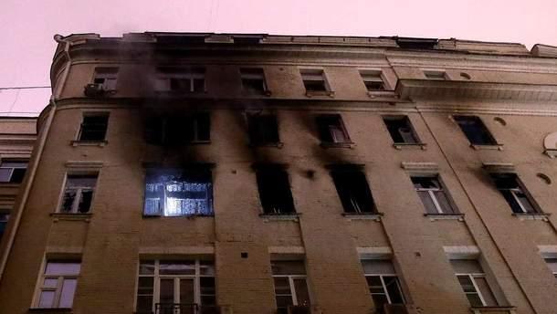 В центре Москвы загорелся многоквартирный дом, погибли 8 человек