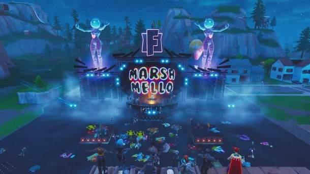 Концерт в игре Fortnite