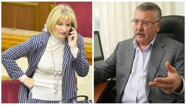 Ірина Луценко подала проти Гриценка позов до суду на 2,5 мільйона гривень
