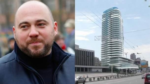 Возле Дворца Украина может появиться 100-метровый небоскреб