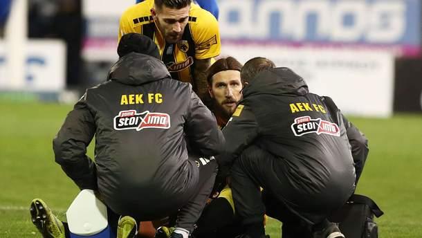 Дмитрий Чигринский травмировался в матче за АЕК