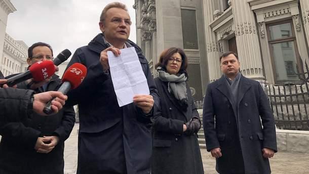 Андрій Садовий - текст угоди Порошенко для зняття сміттєвої блокади Львова