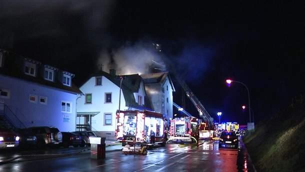 В Германии в жилом доме возник пожар