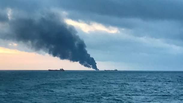 Пожар в Керченском проливе