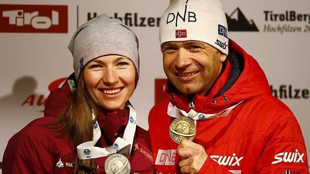 Дарья Домрачева и Уле Эйнар Бьерндален выступят в Беларуси