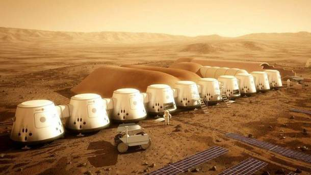 Проект колонии на Марсе