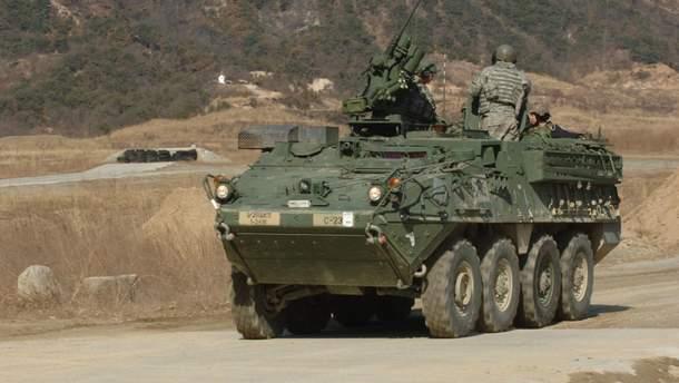Пентагон відправить броньовики Strykers в Європу, щоб стримати Росію