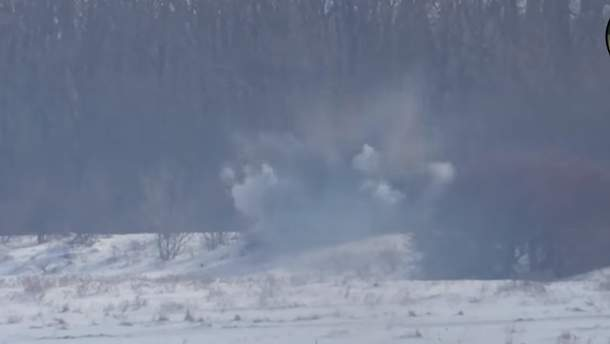 Украинские военные уничтожили огневую точку оккупантов на Донбассе
