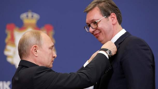 Президент Сербії заявив, що не запроваджуватиме жодних санкцій проти Росії