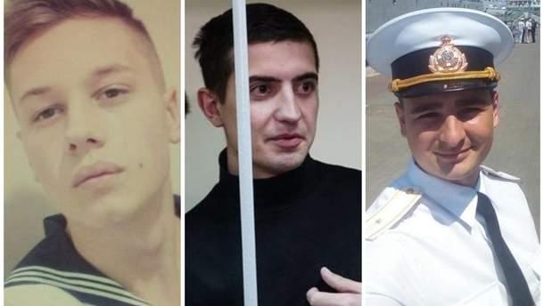 Раненые украинские моряки Андрей Эйдер, Андрей Артеменко, Василий Сорока