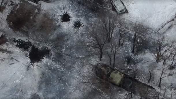 Украинские защитники уничтожили технику боевиков на Донбассе