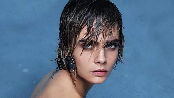 Модель Кара Делевинь снялась в рекламе Balmain голой