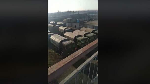 Російська техніка на кордоні з Україною