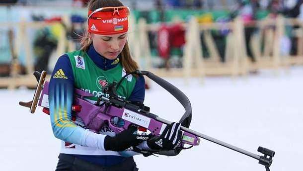 Украинка Журавок завоевала серебро чемпионата Европы по биатлону