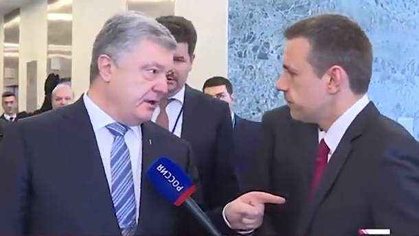 Ви і ваш лідер – вбивці українців! – Порошенко дав прочухана кремлівському пропагандисту (відео)