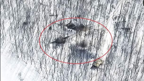 Українські військові на Донбасі вдарили по танку бойовиків