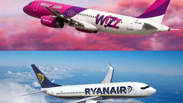Ryanair і Wizzair оштрафовані на мільйони євро за їхні правила щодо багажу