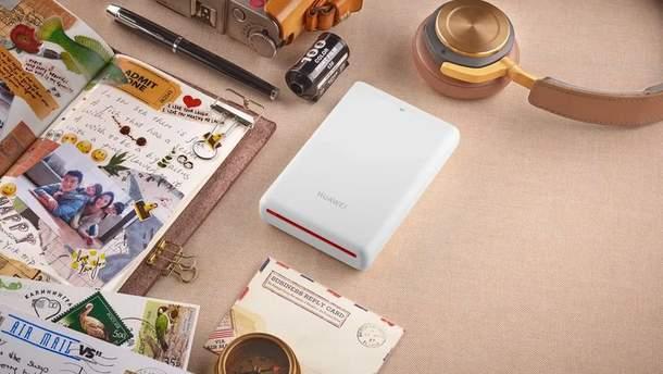 Huawei представила компактний фотопринтер, який друкує відео