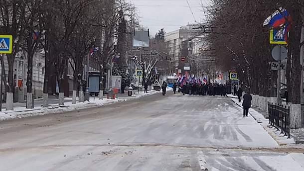 Люди не пришли на празднование российского 23 февраля
