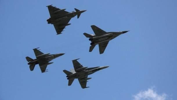 Наблюдатели ОБСЕ зафиксировали 4 реактивных военных самолета над Донбассом