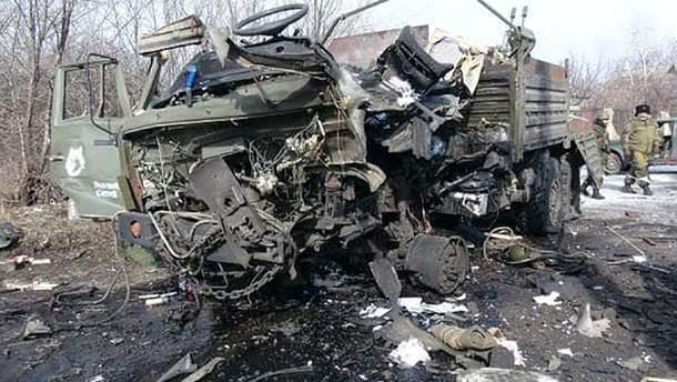 У Луганську вибухнула вантажівка бойовиків