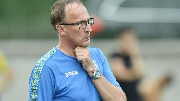 Тренер сборной Украины U-20 Александр Петраков
