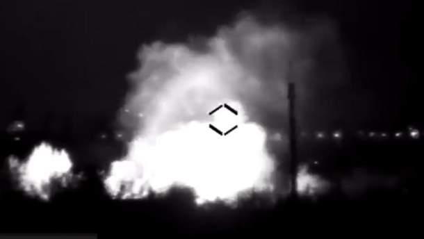 Бойовики випадково підірвали свій склад боєприпасів на Донбасі