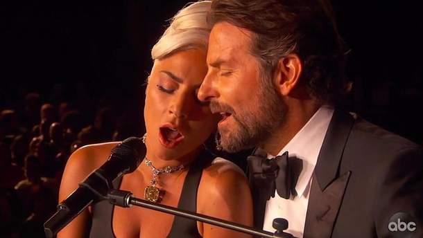 Леді Гага і Бредлі Купер на церемонії нагородження Оскар-2019