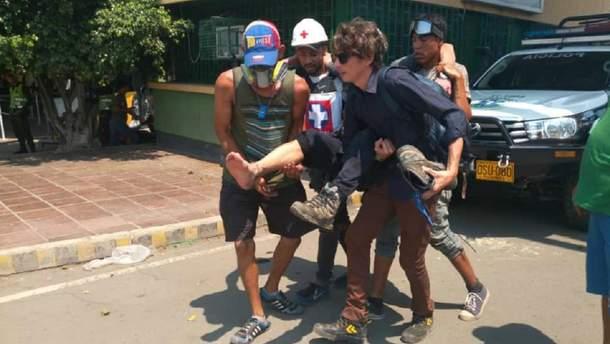 Нацгвардія Венесуели атакувала протестувальників на кордоні з Колумбією