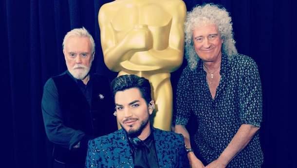 Адам Ламберт и участники группы Queen