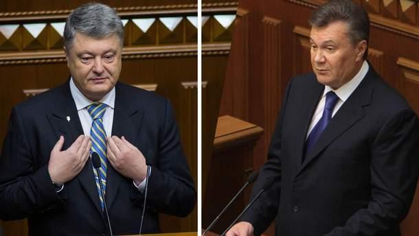 Петр Порошенко и Виктор Янукович
