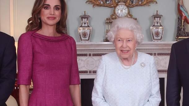 Королева Рания и Елизавета II