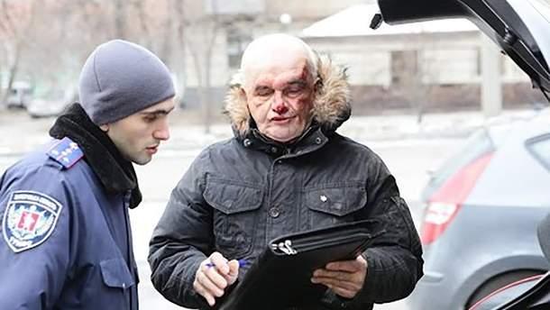 Фото Валер'яна Горбачова під час затримання у 2016 році з сепаратистською символікою та наркотиками
