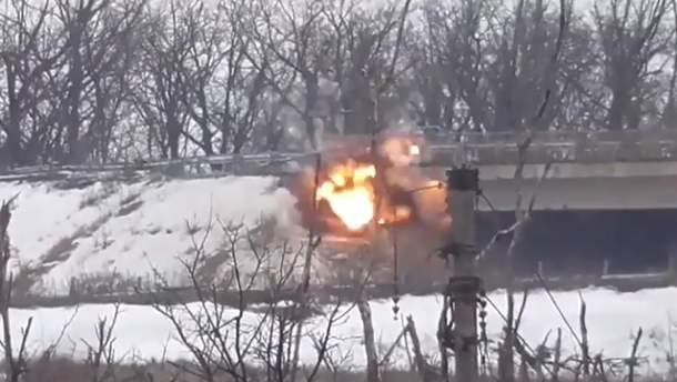 Украинские бойцы уничтожили еще одну огневую точку боевиков