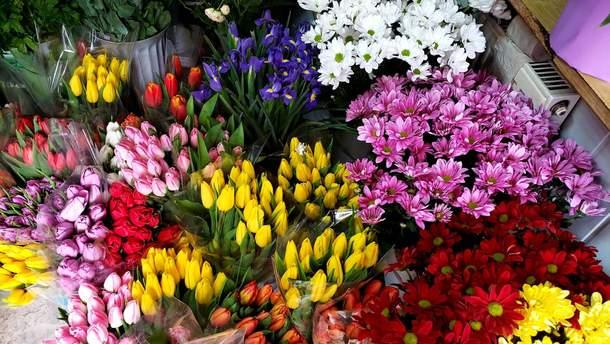 Скільки коштують квіти до 8 березня