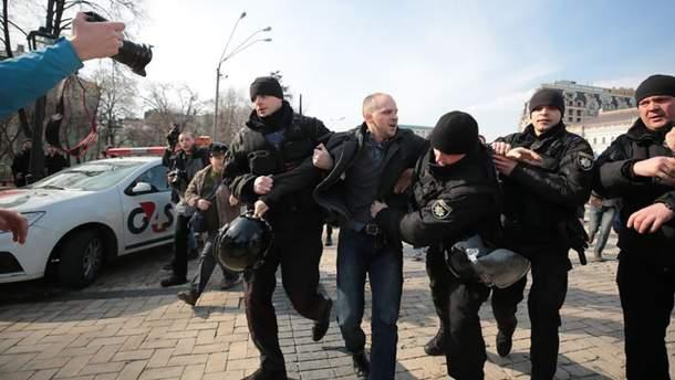 Кількох радикалів затримала поліція