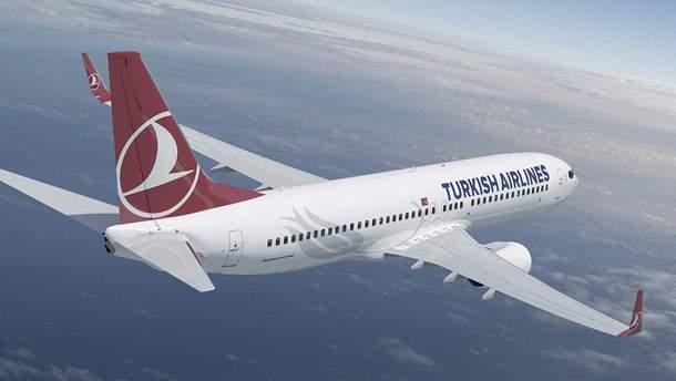 Самолет Турецких авиалиний попал в зону мощной турбулентности