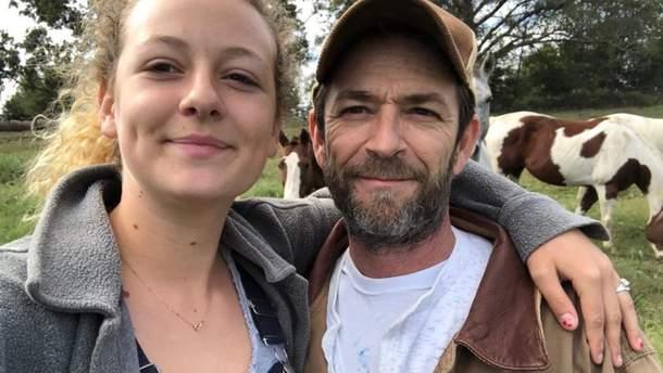 Люк Перрі з донькою Софі