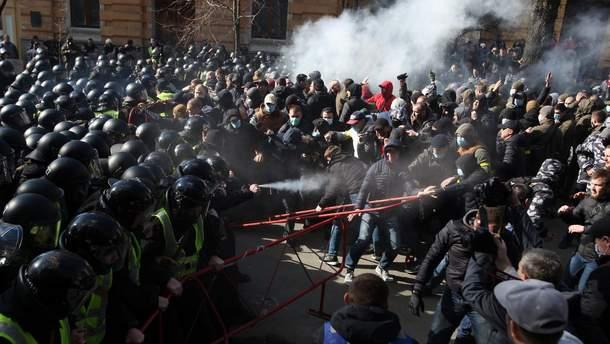 Конфликт на Банковой в Киеве