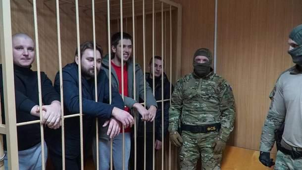 Пленные Россией украинские моряки