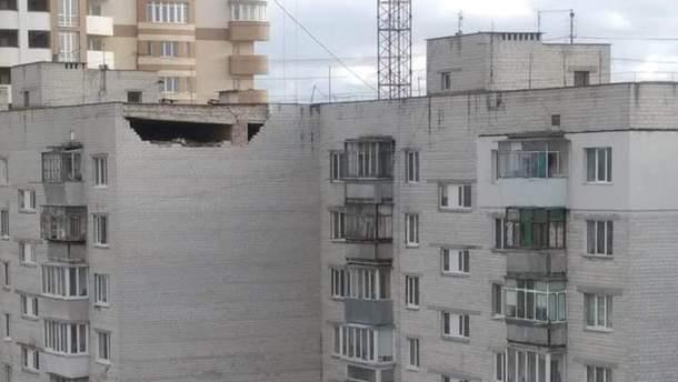 Инцидент произошел на улице на улице Киевский Шлях, 87