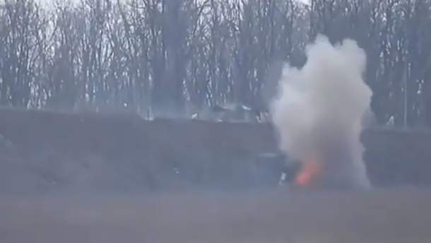 Українські бійці знищили позицію окупантів на Донбасі